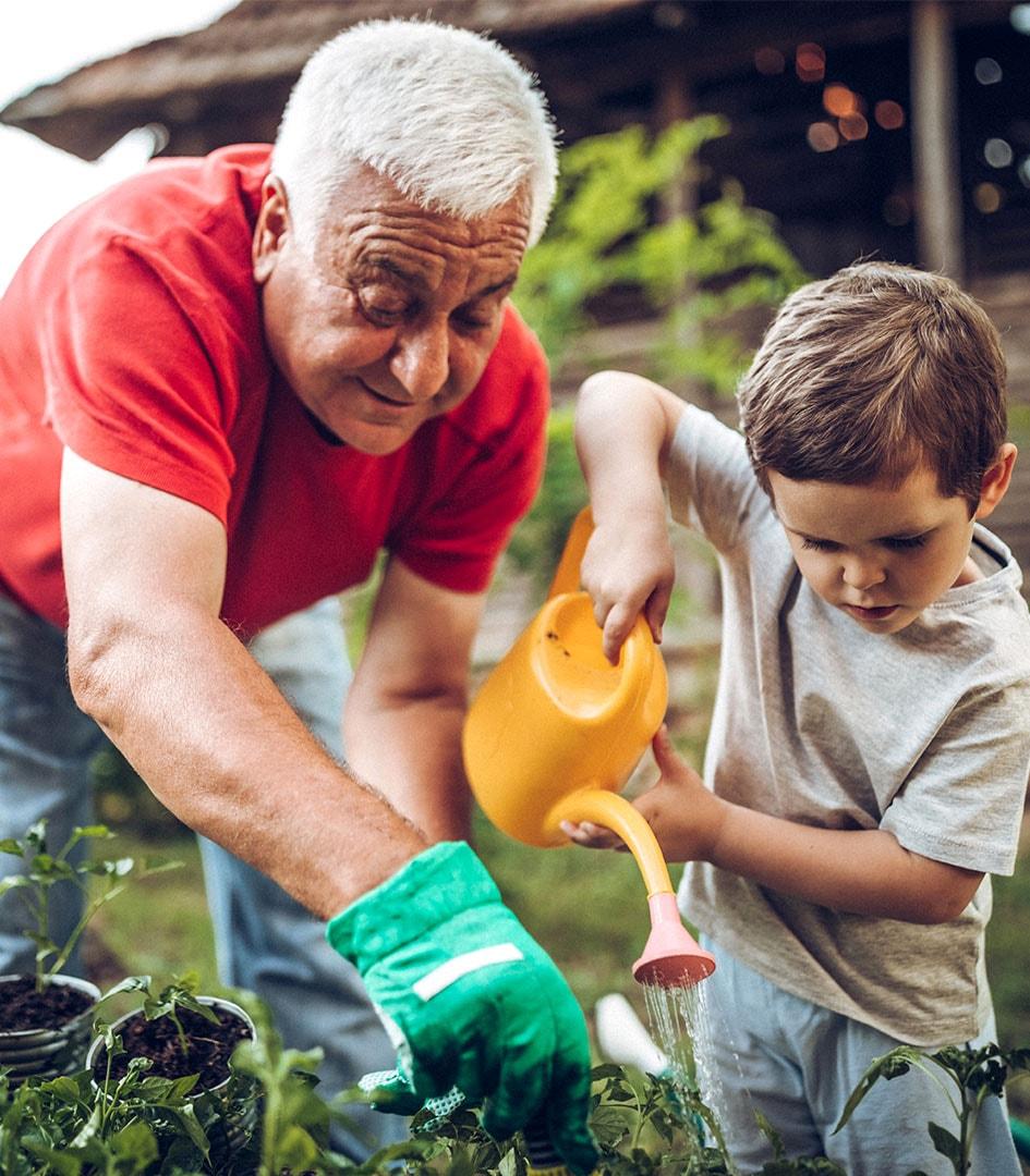 gardening-with-grandson